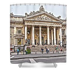 Shower Curtain featuring the photograph The Bourse In Brussels by Pravine Chester