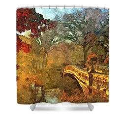 The Bow Bridge Nyc  Shower Curtain