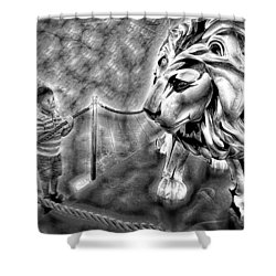The Boy And The Lion 18 Shower Curtain