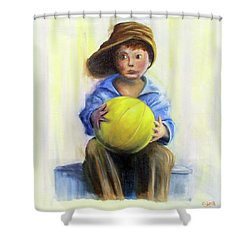The Boy With The Ball Shower Curtain