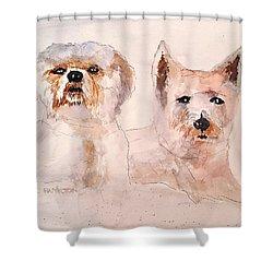 The Boys Shower Curtain by Larry Hamilton