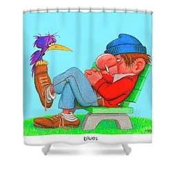 The Bozo Collecton 3 Shower Curtain
