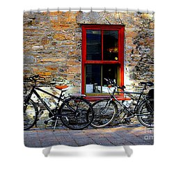 Shower Curtain featuring the photograph The Break by Elfriede Fulda