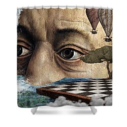 The Breaking Point Shower Curtain