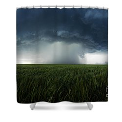 The Breath Before The Plunge Shower Curtain