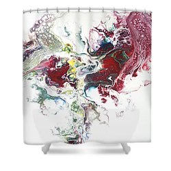 The Breath Of The Crimson Dragon Shower Curtain