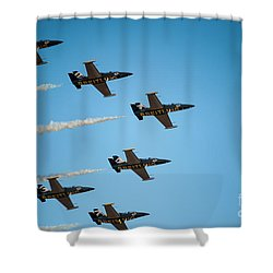 The Breitling Jet Team Shower Curtain