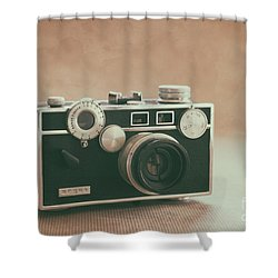 Shower Curtain featuring the photograph The Brick by Ana V Ramirez