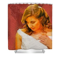 The Bride To Be Shower Curtain by Jeff Kolker