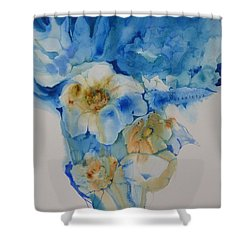 The Bride's Bouquet Shower Curtain by Donna Acheson-Juillet