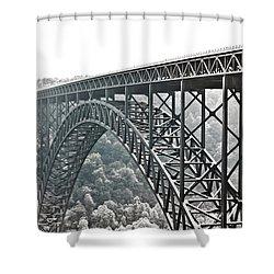 The Bridge B/w Shower Curtain