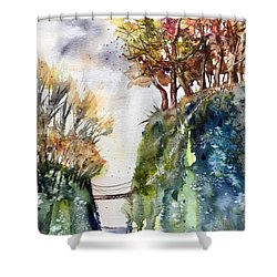 The Bridge Between Two Worlds Shower Curtain
