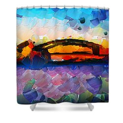 The Bridge I Will Cross Shower Curtain by Sir Josef - Social Critic -  Maha Art