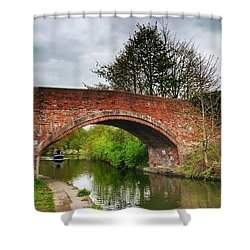 The Bridge Shower Curtain by Isabella F Abbie Shores FRSA