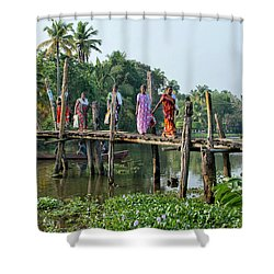 The Bridge Shower Curtain by Marion Galt