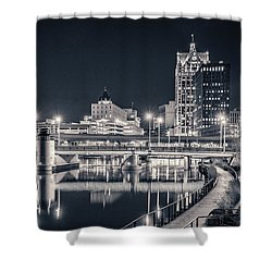 Shower Curtain featuring the photograph The Bright Dark Of Night by Bill Pevlor