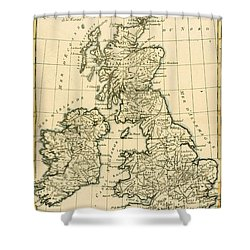 The British Isles Shower Curtain by Guillaume Raynal