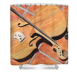 The Broken Violin Shower Curtain by Ken Powers
