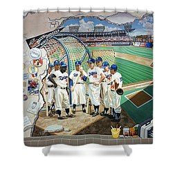The Brooklyn Dodgers In Ebbets Field Shower Curtain