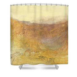 The Brunig Pass From Meiringen Shower Curtain by Joseph Mallord William Turner