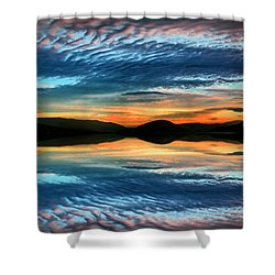 The Brush Strokes Of Evening Shower Curtain