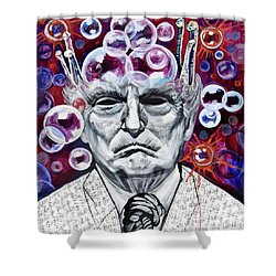 The Bubble King Shower Curtain