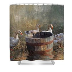 The Bucket Brigade Shower Curtain