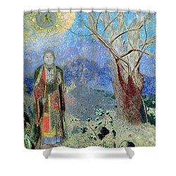 The Buddha Shower Curtain by Odilon Redon