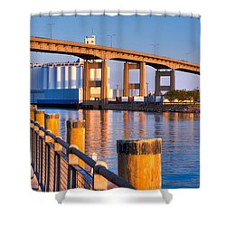 The Buffalo Skyway Shower Curtain