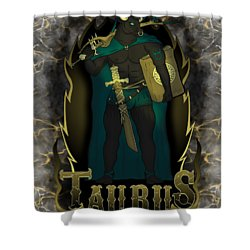 The Bull Taurus Spirit Shower Curtain