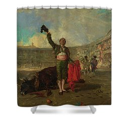 The Bullfighter's Salute  Shower Curtain