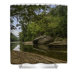 The Burbuese River Shower Curtain