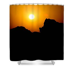 The Burn Shower Curtain by Jez C Self