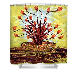 The Burning Bush Shower Curtain by J R Seymour