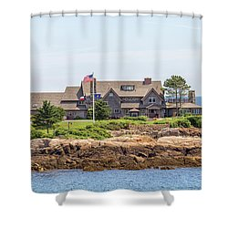 The Bush Family Compound On Walkers Point Shower Curtain by Brian MacLean