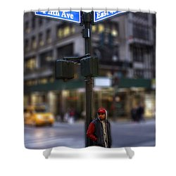 The Busy Streets Shower Curtain by Parker O'Donnell