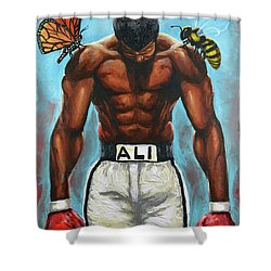 The Butterflies And The Bees Shower Curtain by The Art of DionJa'Y