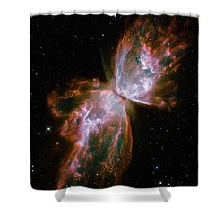 The Butterfly Nebula  Shower Curtain by Hubble Space Telescope
