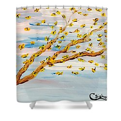 The Butterfly Tree Shower Curtain