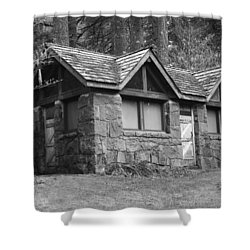 The Cabin Shower Curtain by Angi Parks