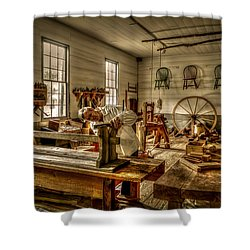 Shower Curtain featuring the photograph The Cabinetmaker by David Morefield
