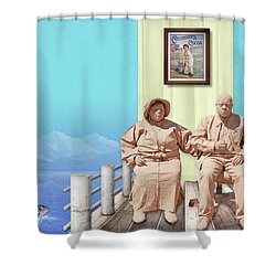 The Cadburys On Vacation Shower Curtain by Marty Garland