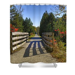Shower Curtain featuring the photograph The Caledon Trailway by Gary Hall