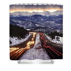 The Call Of The Mountains Shower Curtain