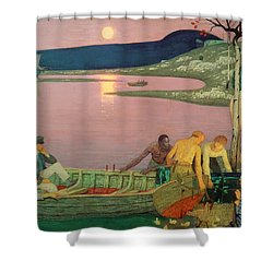 The Call Of The Sea Shower Curtain by Frederick Cayley Robinson