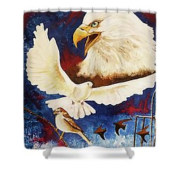 The Called And Chosen Ones Shower Curtain