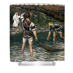 The Calling Of Saint Peter And Saint Andrew Shower Curtain by Tissot