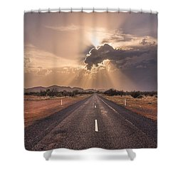 The Calm Before The Storm Shower Curtain by Racheal  Christian