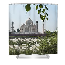 The Calm Behind The Taj Mahal Shower Curtain