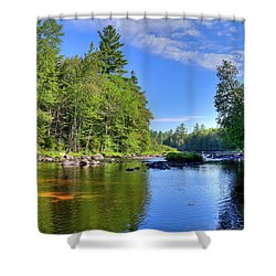 Shower Curtain featuring the photograph The Calm Below Buttermilk Falls by David Patterson